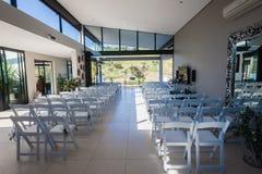 Gifta sig dekoren för stolar hem Arkivbilder