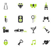 Gifta sig enkelt symboler Fotografering för Bildbyråer