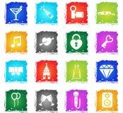 Gifta sig enkelt symboler Arkivbild