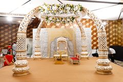 Gifta sig etappen av blommor planlägg royaltyfri foto