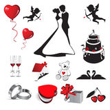 Gifta sig förälskelse royaltyfri illustrationer