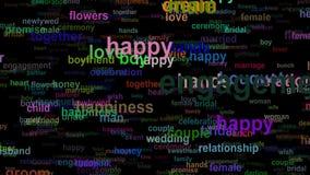 Gifta sig förälskelsebegrepp uttrycker den rörande ÖVRE sömlösa öglan stock video