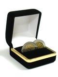 gifta sig för 2 mynt Fotografering för Bildbyråer