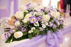 gifta sig för blommor för bukett brud- Romantisk blommande dekor, decorat fotografering för bildbyråer