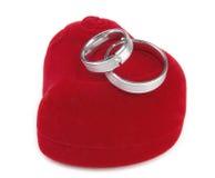 gifta sig för cirklar för ask rött Arkivfoton