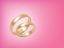 gifta sig för cirklar för bakgrund rosa Arkivfoto