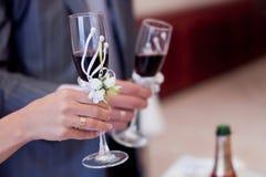 gifta sig för exponeringsglas Fotografering för Bildbyråer