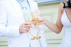 gifta sig för exponeringsglasnygift person Royaltyfria Foton
