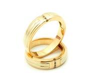 gifta sig för guldcirklar Arkivfoto