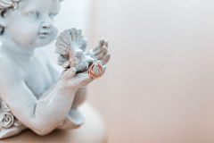 gifta sig för guldcirklar Royaltyfri Fotografi