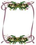 gifta sig för liljar för kantcallainbjudan royaltyfri illustrationer