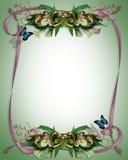 gifta sig för liljar för kantcallainbjudan Arkivbild