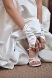 gifta sig för skor Fotografering för Bildbyråer