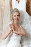 gifta sig för tries för brudklänning lyckligt Arkivfoto