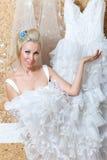gifta sig för tries för brudklänning lyckligt Royaltyfri Fotografi