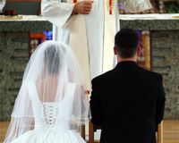 gifta sig för vows Arkivfoto