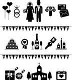 gifta sig för pictograms stock illustrationer