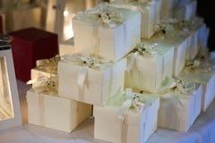 Gifta sig favörer för gäst Fotografering för Bildbyråer