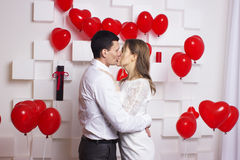 Gifta sig härliga par Fotografering för Bildbyråer
