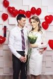Gifta sig härliga par royaltyfria bilder