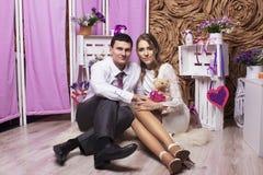 Gifta sig härliga par royaltyfri bild