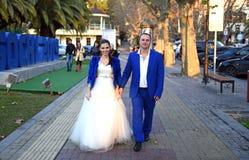 Gifta sig i December Fotografering för Bildbyråer