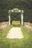 Gifta sig i gräsplan Arkivfoton