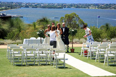 Gifta sig i konung Park, Perth royaltyfri bild