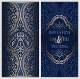 Gifta sig inbjudankortet med guld- skinande östlig och barock rik lövverk Utsmyckad islamisk bakgrund för din design Islam arabis royaltyfri illustrationer