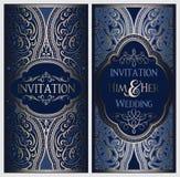 Gifta sig inbjudankortet med guld- skinande östlig och barock rik lövverk Utsmyckad islamisk bakgrund för din design Islam arabis vektor illustrationer