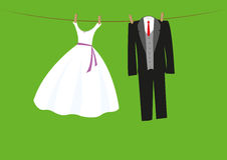 Gifta sig kläder Royaltyfri Foto