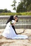 Gifta sig kyss Royaltyfri Fotografi
