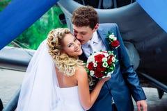 Gifta sig kyss Royaltyfri Foto