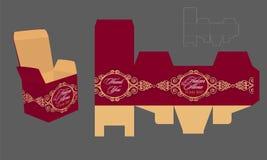 Gifta sig mallen för pappers- ask Arkivfoto