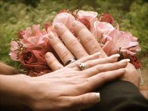 Gifta sig materielfotografi Arkivfoton