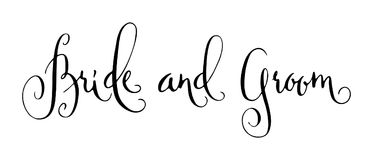 Gifta sig modern kalligrafi Arkivbild