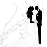 Gifta sig par royaltyfri illustrationer