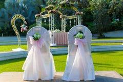 Gifta sig parstol Fotografering för Bildbyråer