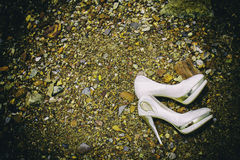 Gifta sig skon Arkivfoto