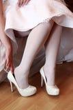 Gifta sig skor Fotografering för Bildbyråer