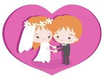 Gifta sig som förälskelse och förstå Royaltyfria Foton
