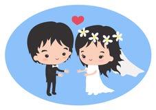 Gifta sig som förälskelse och förstå Arkivfoto
