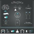 Gifta sig stationära designbeståndsdelar Royaltyfria Bilder