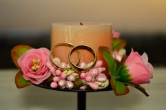 Gifta sig stearinljuset Arkivbilder