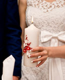 Gifta sig stearinljuset Royaltyfria Bilder