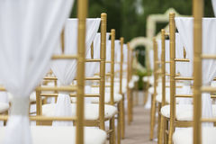 Gifta sig stolar Arkivbild
