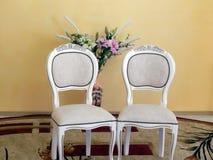 Gifta sig stolar för gäster Royaltyfri Fotografi