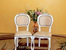 Gifta sig stolar för gäster Royaltyfria Foton