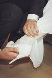 Gifta sig symboler, attribut Arkivfoto