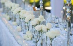 Gifta sig tabelldekoren royaltyfri bild